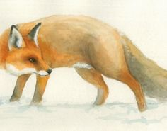 The Fox - 8x10 - Watercolor - Print https://www.etsy.com/listing/168466967/the-fox-8x10-watercolor-print?ref=af_you_favitem