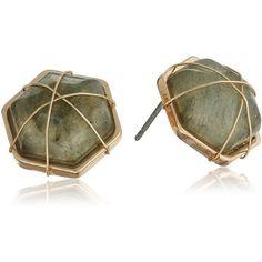 Panacea Lab Stud Earrings ($18) ❤ liked on Polyvore featuring jewelry, earrings, panacea jewelry and stud earrings