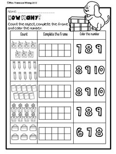 Back to School Math and Literacy No prep Kindergarten Math Activities, Kindergarten Math Worksheets, School Worksheets, Kindergarten Teachers, Teaching Math, Grade 1 Worksheets, Literacy, Addition Worksheets, Math For Kids