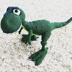 Amigurumi Pattern - T-mothy the T-rex - English Version Crochet Toys Patterns, Amigurumi Patterns, Stuffed Toys Patterns, Half Double Crochet, Single Crochet, Crochet Dinosaur, Crochet Bookmarks, Catania, Pattern Drawing