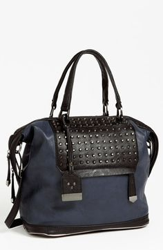 Enough stud punch $48.98  POVERTY FLATS by rian Studded Satchel, Large available at #Nordstrom