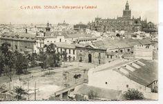 Tarjeta Postal Sevilla Vista parcial y Catedral facsimil(CF-355) | eBay
