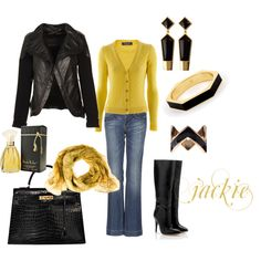 Black and Yellow Gold, created by jackijons.polyvor...