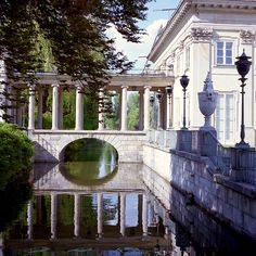 Royal Baths Park in Warsaw, Poland