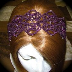 tatted headband inspired from a bookmark