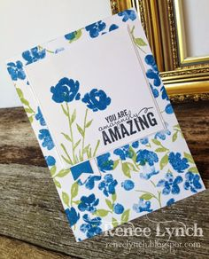 By Renee Lynch - Stampin' Up! - Balloon Bash - Painted Petals - Birthday card - ITS YOUR BIRTHDAY - SAB -