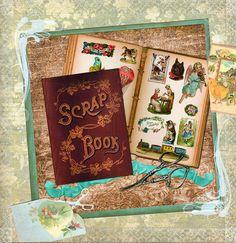 Easter Floral Scrap Card Victorian Scrap Book Art Vintage Paper Ephemera Scrapbooking Supply Planner Goodies Altered Book Arts Scrap