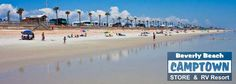 Beverly Beach Camptown - FL   Pull right up and roll out of your RV and you're on the beach.  Fabulous!