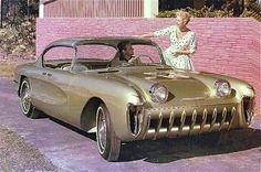 STRANGE OLDE CONCEPT CARS - 1955 CHEVROLET BISCAYNE - LOOKS LIKE EARLY CORVETTE!