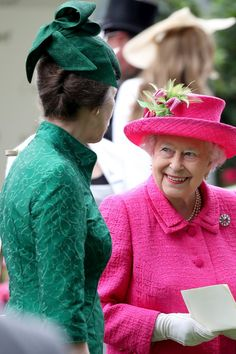 Her Majesty with the Princess Royal