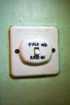 Ha ha ha, I used to say fuck on fuck off but close enuff...☆