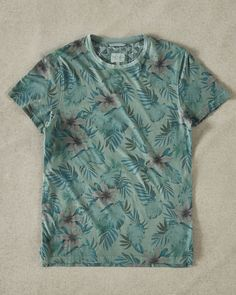 Floral print cotton T-shirt - Green | Tops and T-shirts | Ted Baker SEU