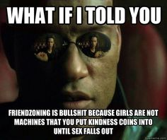 this is true. but the friendzone is also not bullshit in other ways Haha, Intersectional Feminism, Thing 1, Know Your Meme, Patriarchy, A Good Man, True Stories, Equality, I Laughed