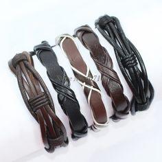 Купить Fl155 5 шт. упаковка браслеты черный и коричневый браслет ручной плетеные…