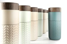 One-o-One Travel Mug by Hangar Design Group for Acera updates the traditional Chinese travel mug in hand-made ceramic and wood, with a name and design that celebrate the high-flying Taipei skyline
