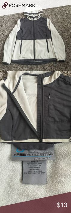 🌸Fleece Jacket NOT NORTH FACE as listed but just as effective. This jacket is used but in wonderful condition. Off White/Gray colored. Appears a little darker on elbows but it can be removed. Absolutely NO pilling, NO rips. North Face Jackets & Coats