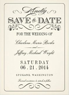 Elegant classy and minimalist save-the-date wedding invitations. Clean and classic.
