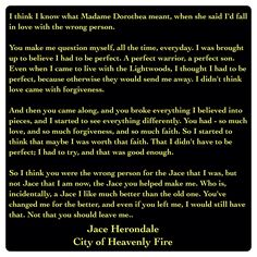 Jace Herondale (City of Heavenly Fire by Cassandra Clare ~ The Mortal Instruments book 6) Quote