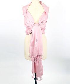 $49.99 Love this Light Pink Pashmina Scarf on #zulily! #zulilyfinds