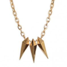 Luv Aj Triple Spike Pendant Necklace on Accessories Magazine Online