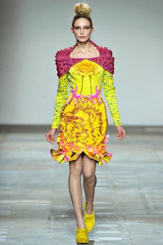 Mary Katranzou Fall/ Winter 2012/2013  I love the fresh colors!