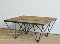 Do-the-old-retro-minimalist-modern-rustic-furniture-LOFT-industrial-style-wrought-iron-coffee-table-wood.jpg (750×551)