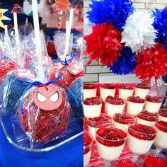 Xavis The Amazing Spiderman Dessert table! by Yummy Piece of Cake, via Flickr