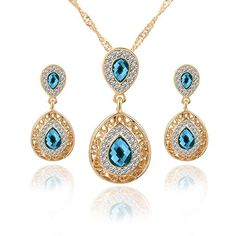Stand out with elegance as you wear this Classic Design Jewelry Set.