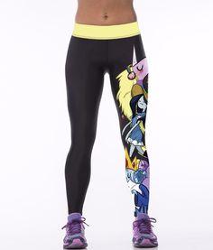 1f3cc0c3 Aliexpress.com : Buy High waist cartoon 3D print super elastic slim leggings  fitnes sportswear leggings Polyester XL adventure time jeggings pant from  ...