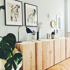 This stylish wall design was found by member preppygolucky! to live # living Living Room Inspiration, Interior Inspiration, Ikea Furniture, Furniture Design, Interior Exterior, Interior Design, Wall Design, House Design, Sweet Home
