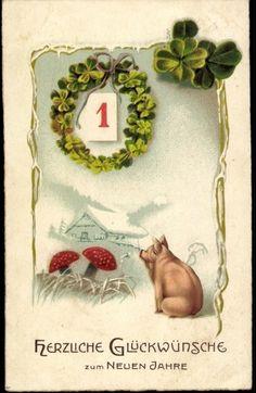 Neujahr Schwein