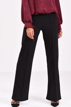 Μαύρη παντελόνα κρεπ με ραφή Suits, Fashion, Moda, Outfits, Fashion Styles, Suit, Fashion Illustrations, Business Suits