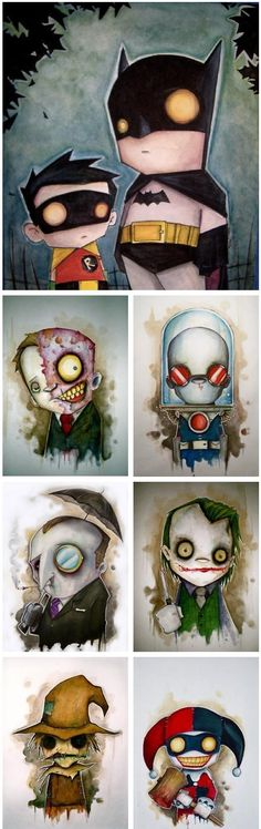 Chris Uminga's take on the Batman characters