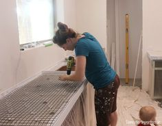 DIY Concrete Countertops, Part I- Setting the Forms