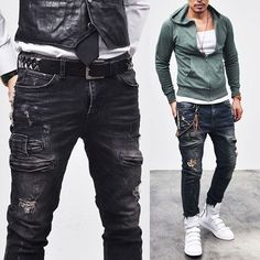 Vintage Hardcore Zipper Biker-Jeans 97 #mens fashion