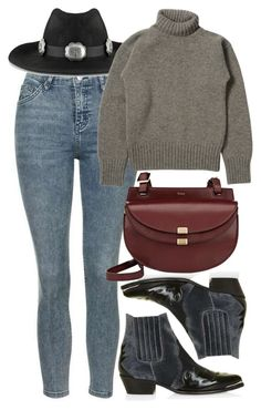 """Untitled #5265"" by rachellouisewilliamson on Polyvore featuring Topshop and Chloé"