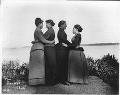 Alice Austen - The Darned Club, Staten Island, New York, October 29, 1891