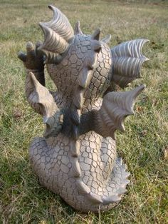 Statue de jardin dragon grimaçant: Amazon.fr: Jardin