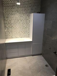 Marble mosaic feature wall and lea ceramiche tiles Bathroom Renovations Melbourne, Marble Mosaic, Tile Floor, Pergola, Tiles, Wall, Room Tiles, Outdoor Pergola, Tile