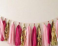 Artículos similares a Vintage Princess Baby Shower / banner de cumpleaños en Etsy