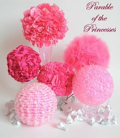 Princess Topiaries...Party Decorations! amykaygee