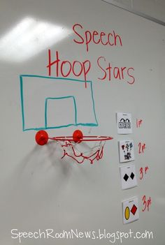 Need a little beginning of the week inspiration today? It's a mix of shamrocks and basketball in my speech room this week. I wanted to show you two more basketball ideas! A free app  plus a  little...