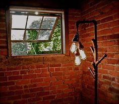 Industrial Floor Lamp Coat Rack. By Stella Bleu Designs. Wow.