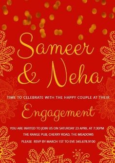 14 Best Indian Engagement Template Images Indian
