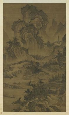 Mountain villa and lofty retreat, attributed to Li Zai (died 1431). Ming dynasty…