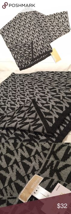 Michael Kors logo knit scarf Brand new. Just right for fall and winter. MICHAEL Michael Kors Accessories Scarves & Wraps