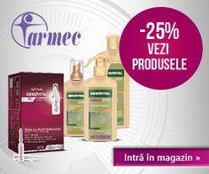 Magazinul online Farmec are peste 300 de produse, destinate îngrijirii tenului, părului și corpului, diferențiate în funcție de tipul de piele, vârsta, probleme specifice. Cele mai cunoscute branduri sunt: Gerovital H3 prof. dr. Ana Aslan, Gerovital H3 Evolution, Gerovital Plant, Aslavital, Farmec, Aslamed, Doina, Athos, Obsesie. La cumparaturile prin MyCashBack.ro castigati 4% cashback! www.mycashback.ro/magazin/875/farmec