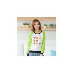 Raglan-Sleeve Printed Pullover (€32) ❤ liked on Polyvore featuring tops, hoodies, sweatshirts, sweatshirt, women, raglan sleeve top, raglan sleeve sweatshirt, pullover tops, sweater pullover and purple top