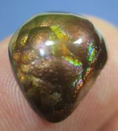 MEXICAN Fire Agate Gemstone Free Form Not Enhanced Multi-colored 13x11...