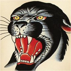 panther tattoo flash - Google Search